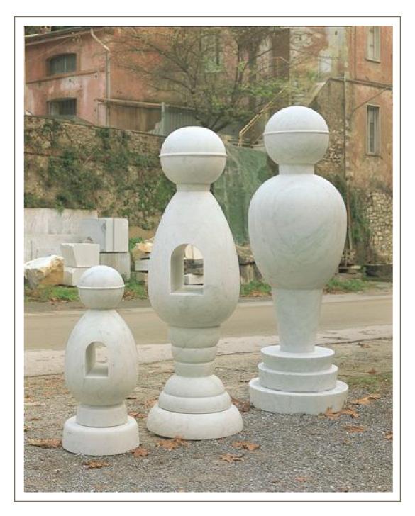 彫刻作品「コスモピープル」
